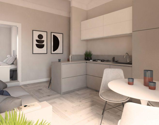 Home staging valorizzazione immobiliare render salotto di Ubicamente in Toscana
